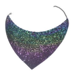 Designer Inspired Dark Silvertone Necklace (20-22 in)