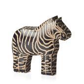 Black Genuine Leather Zebra Money Bank