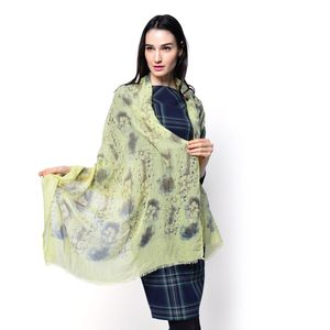 J Francis - Lime 100% Viscose Scarf (72x35 in)