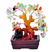 Multi Color Glass, Chroma Decorative Tree (4 in)