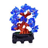 Blue Glass, Chroma Decorative Tree (4.5 in)