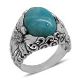 Bali Legacy Collection Larimar Sterling Silver Ring (Size 7.0) TGW 9.380 cts.