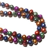 Freshwater Multi Color Pearl Necklace (36 in)