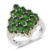 Russian Diopside 14K YG Over and Sterling Silver Ring (Size 7.0) TGW 4.600 cts.