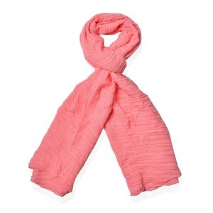 Peach 100% Polyester Scarf (71x33 in)