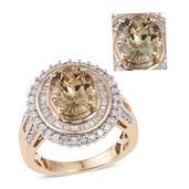 14K YG Turkizite, Diamond Ring (Size 7.0) TDiaWt 1.02 cts, TGW 4.020 cts.