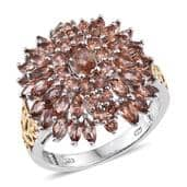 Jenipapo Andalusite 14K YG and Platinum Over Sterling Silver Ring (Size 8.0) TGW 4.50 cts.