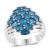 Jewel Studio by Shweta Malgache Neon Apatite Platinum Over Sterling Silver Ring (Size 6.0) TGW 3.500 cts.