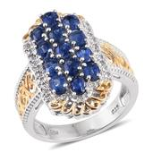 Himalayan Kyanite, White Topaz 14K YG and Platinum Over Sterling Silver Ring (Size 6.0) TGW 3.45 cts.