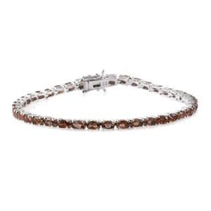 Ankur's Treasure Chest Jenipapo Andalusite Platinum Over Sterling Silver Tennis Bracelet (8.00 In) TGW 9.00 cts.