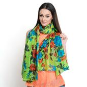 J Francis - Lime Green 100% Cotton Scarf (70x39 in)