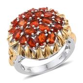 Jalisco Fire Opal 14K YG and Platinum Over Sterling Silver Ring (Size 10.0) TGW 2.880 cts.
