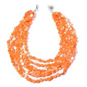 SUGAR by Gay Isber Orange Shell Stainless Steel Drape Necklace (20-22 in)