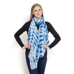 J Francis - 100% Modal Indigo Blue Tie Dyed Scarf (72x40 In)