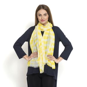 J Francis - 100% Modal Yellow Tie Dyed Scarf (72x40 In)