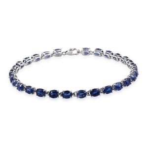 Himalayan Kyanite Platinum Over Sterling Silver Bracelet (7.50 In) TGW 14.550 cts.