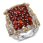 Jalisco Fire Opal 14K YG and Platinum Over Sterling Silver Ring (Size 9.0) TGW 3.450 cts.