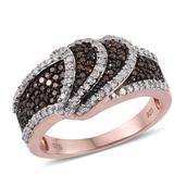Red Diamond (IR), Diamond 14K RG Over Sterling Silver Ring (Size 7.0) TDiaWt 0.76 cts, TGW 0.760 cts.