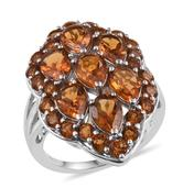 Santa Ana Madeira Citrine Platinum Over Sterling Silver Ring (Size 5.0) TGW 6.400 cts.