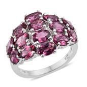 Orissa Rhodolite Garnet Platinum Over Sterling Silver Ring (Size 6.0) TGW 8.000 cts.