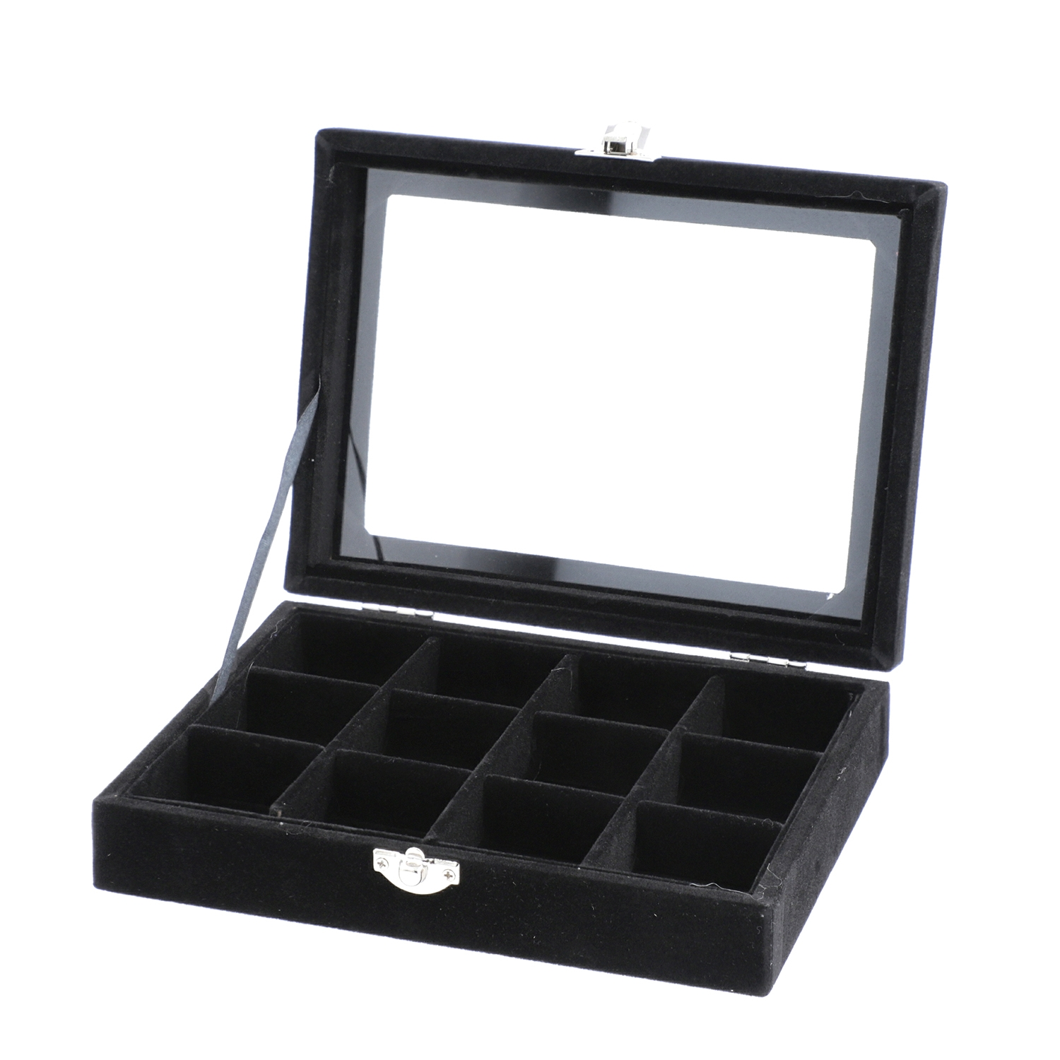 Black Velvet Jewelry Organizer (8x6x2 in)