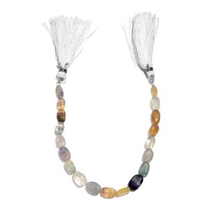 Gem Workshop Multi Fluorite Beads Strand (8 in) TGW 70.00 cts.
