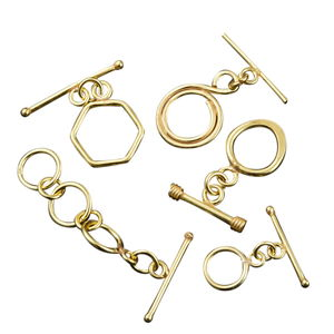 LC DIY Set of 5 Goldtone Toggle Clasps