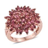 Pink Tourmaline 14K RG Over Sterling Silver Ring (Size 7.0) TGW 4.49 cts.