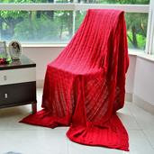 ReRed 100% Acrylic Cable Knit Throw (64x56 in)