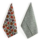 Home Textiles Set of 6 Multi Color 100% Cotton Leaves and Floral Pattern Kitchen Towels (24x16 in)