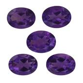 Amethyst Set of 5 (Ovl 8x6 mm) TGW 5.22 Cts.