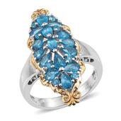 Malgache Neon Apatite 14K YG and Platinum Over Sterling Silver Ring (Size 6.0) TGW 3.280 cts.