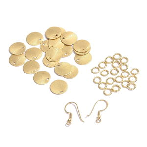 Gem Workshop DIY Goldtone Dangling Earrings Kit