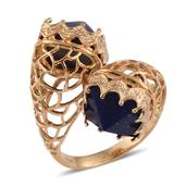 Lapis Lazuli 14K YG Over Sterling Silver Ring (Size 9.0) TGW 16.35 cts.