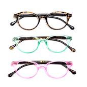 DOD Animal Print Set of 3 Round Readers Glasses + 2.0