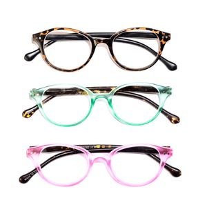 Animal Print Set of 3 Round Readers Glasses + 2.5