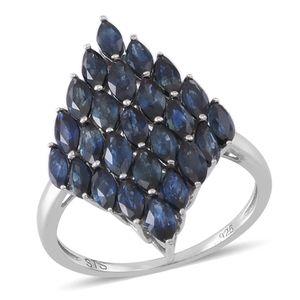 Kanchanaburi Blue Sapphire Sterling Silver Ring (Size 8.0) TGW 4.50 cts.