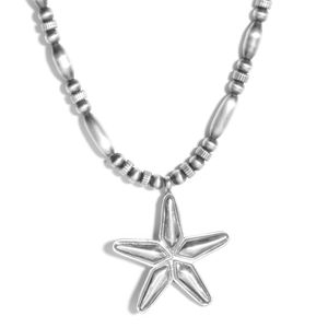 Santa Fe Style Sterling Silver Star Necklace (20 in, 15.9 g)
