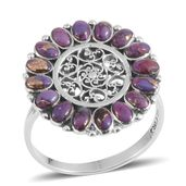 Santa Fe Style Mojave Purple Turquoise Sterling Silver Ring (Size 8.0) TGW 2.10 cts.