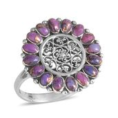 Santa Fe Style Mojave Purple Turquoise Sterling Silver Ring (Size 9.0) TGW 2.10 cts.