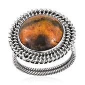 Artisan Crafted Bumble Bee Jasper Sterling Silver Ring (Size 9.0) TGW 9.450 cts.