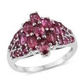 Mahenge Rose Spinel Platinum Over Sterling Silver Ring (Size 8.0) TGW 2.86 cts.