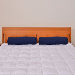 Set of 2 Navy Blue Microfiber Body Pillow Covers (28x8 In)