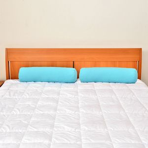 Set of 2 Turquoise Microfiber Body Pillow Covers (28x8 In)