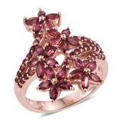 Mahenge Rose Spinel 14K RG Over Sterling Silver Ring (Size 7.0) TGW 4.65 cts.