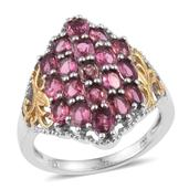 Morro Redondo Pink Tourmaline 14K YG and Platinum Over Sterling Silver Ring (Size 9.0) TGW 3.80 cts.
