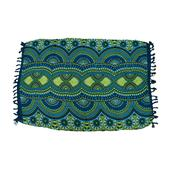Green and Blue Rayon Sarong (70.8x47.2 in)