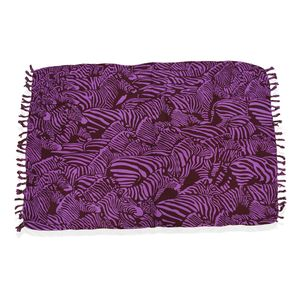 Pink and Brown Zebra Print 100% Rayon Sarong (71x47 in)