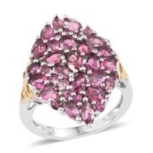 Morro Redondo Pink Tourmaline 14K YG and Platinum Over Sterling Silver Ring (Size 8.0) TGW 3.96 cts.