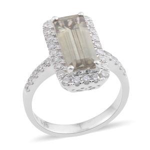 14K WG Madagascar Sphene, Diamond Ring (Size 7.0) TDiaWt 0.65 cts, TGW 3.38 cts.